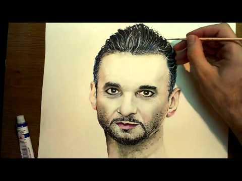 Watercolor Painting Dave Gahan-Depeche Mode by Jovan Lilić