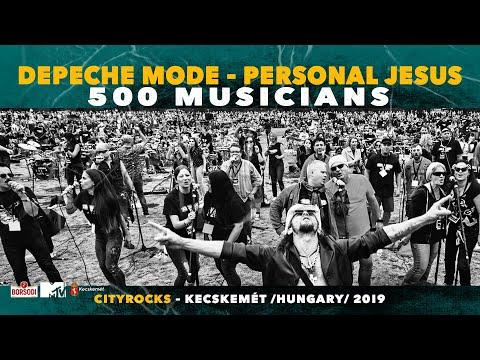 Depeche Mode - Personal Jesus - 500 musicians rock flashmob - @CITYROCKS cover (official)