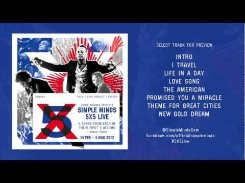 Simple Minds 5X5 Live Album Sampler