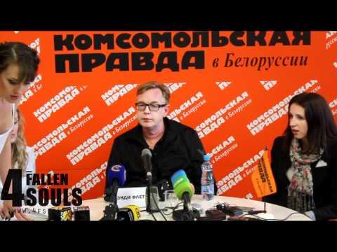 Andy Fletcher in Minsk Press 2