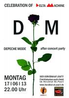 Plakat für die After Concert Party in Hamburg.