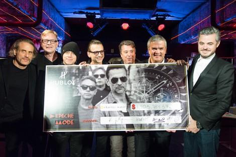 Depeche Mode und Hublot sammelten Geld für charity: water. Pressefoto: Hublot