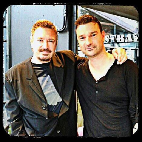 Sänger Andy Krüger mit dem Ex-Mitglied einer anderen Band (Foto: privat)