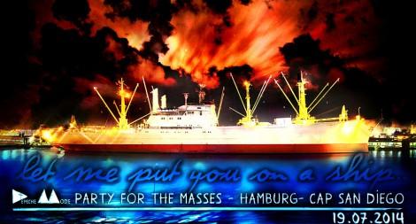 Die Masse kehrt zurück aufs Schiff.
