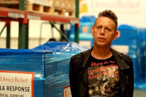 Martin Gore ruft zu Spenden auf.