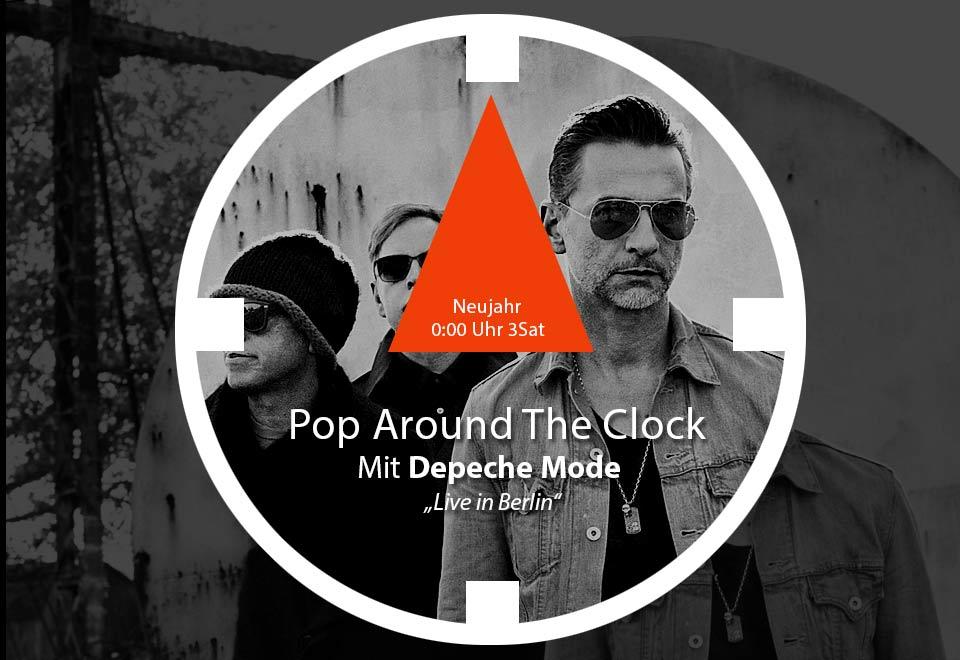 Bei Pop around the clock (3sat) könnt ihr mit Depeche Mode ins neue Jahr starten..