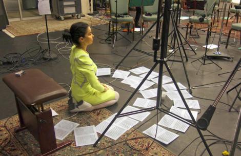 Björk im Studio