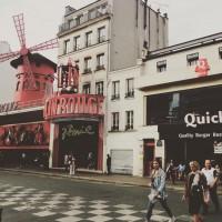 Für Kurz-Sightseeing war in Paris noch Zeit: Moulin Rouge.