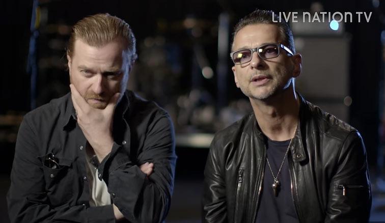 Rich Machin und Dave Gahan. Foto: Videoshot