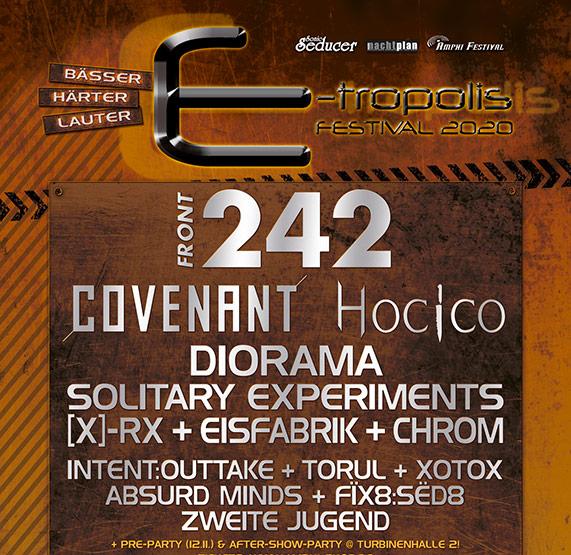 Abbildung des Flyers für das E-Tropolis Festival 2021